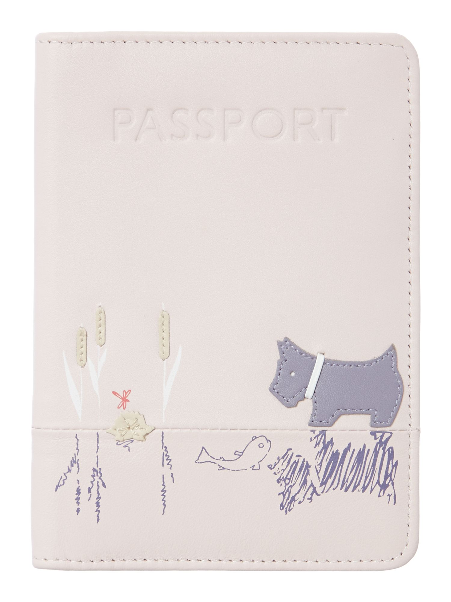Pale pink passport holder