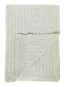 Wool throw, grey