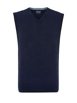 Men's Howick Arlington 100% Lambswool Vee Neck Tank