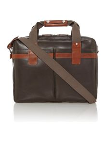 Ryder brown large zip top carrier bag