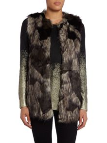All over faux fur gilet