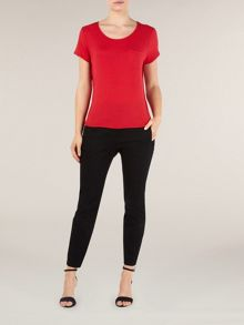 Poppy red jersey top