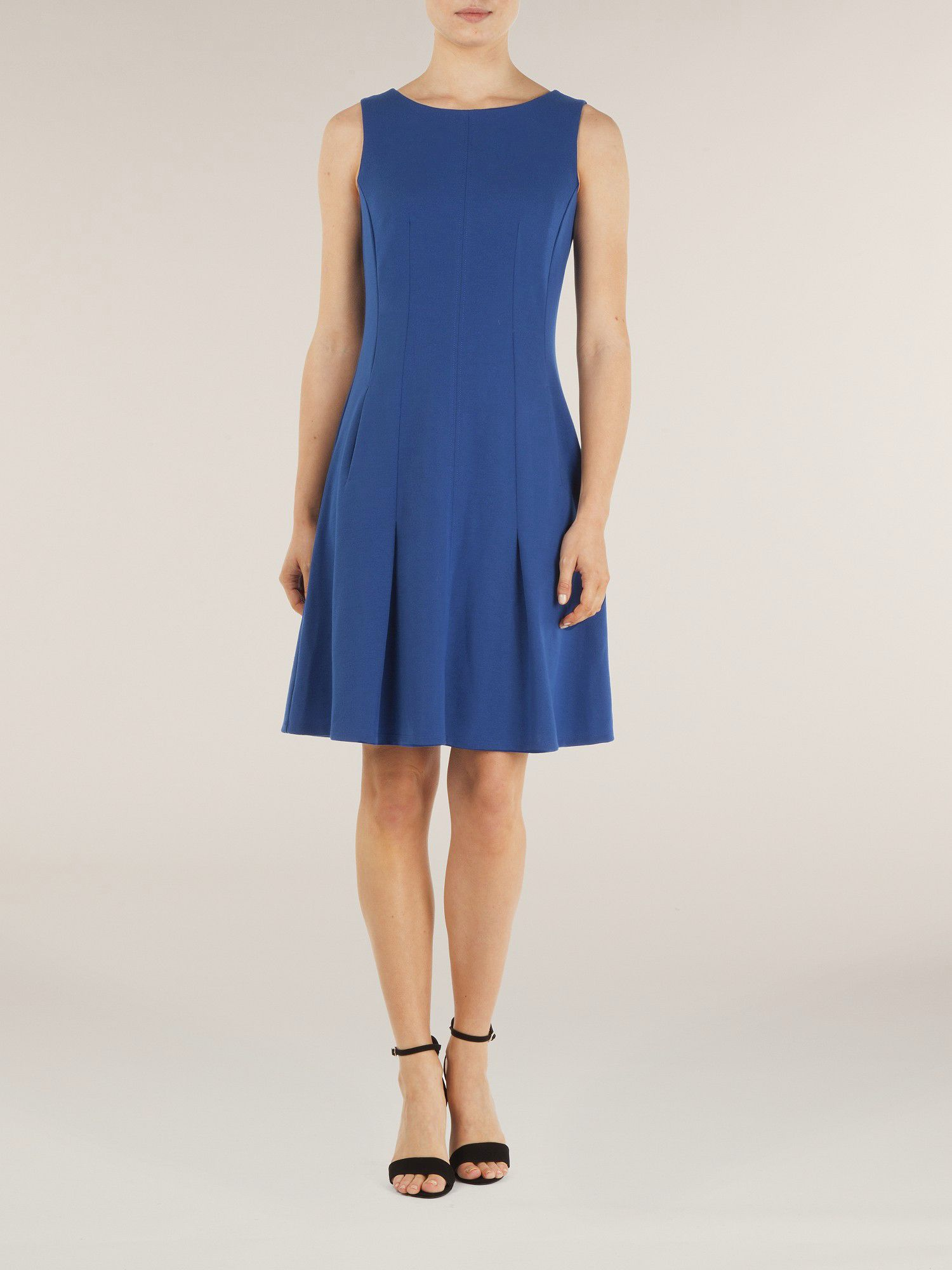 Blue sculptured dress
