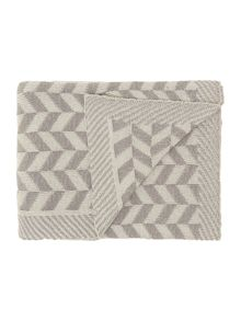Zigzag knit throw