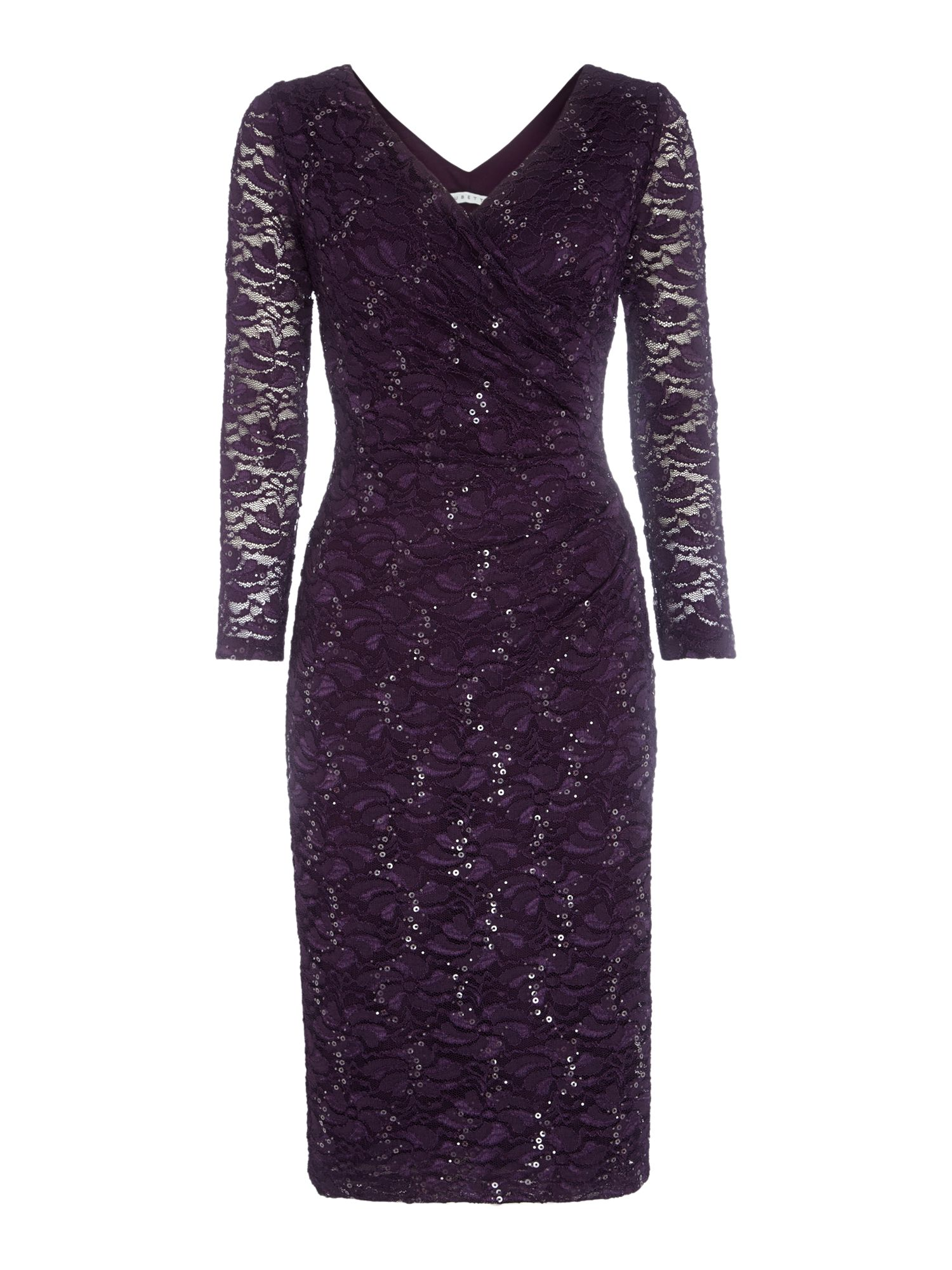ES LACE WRAP DRESS