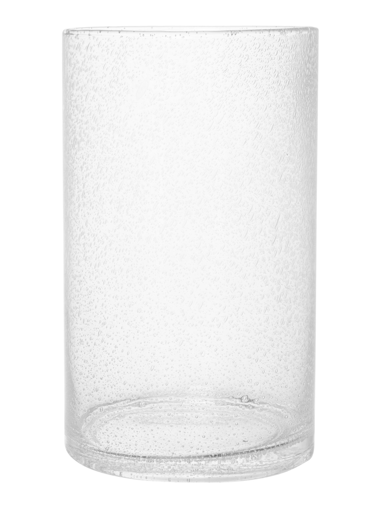 Clear bubble cyclinder vase, small