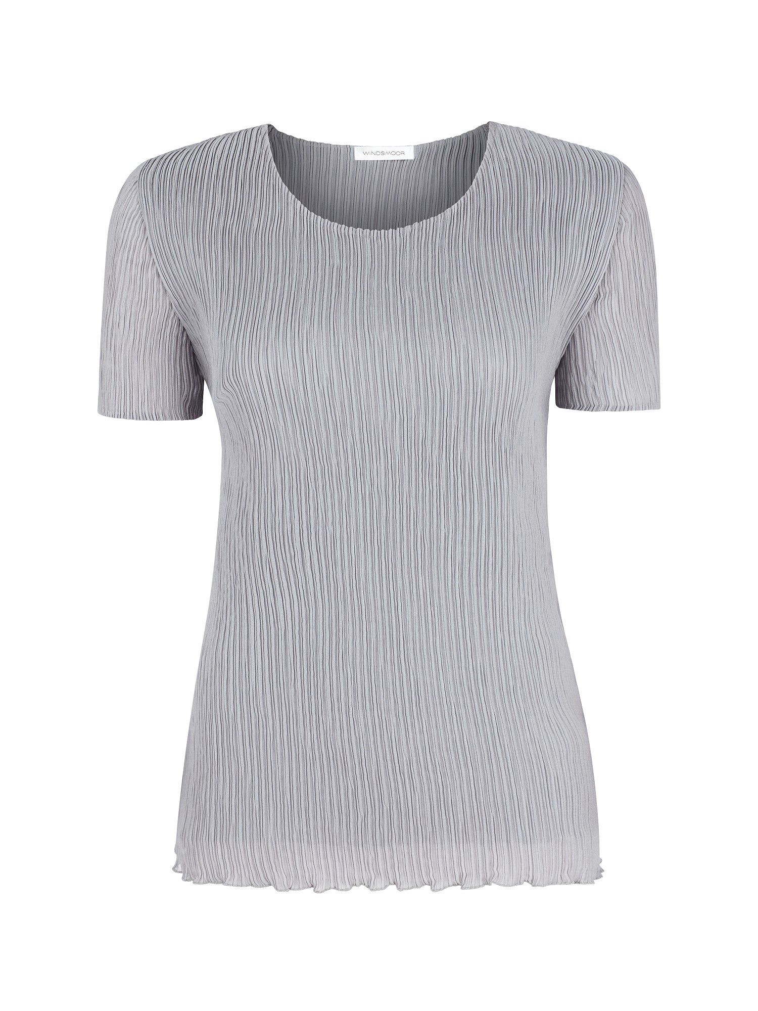 Pale grey crinkle top