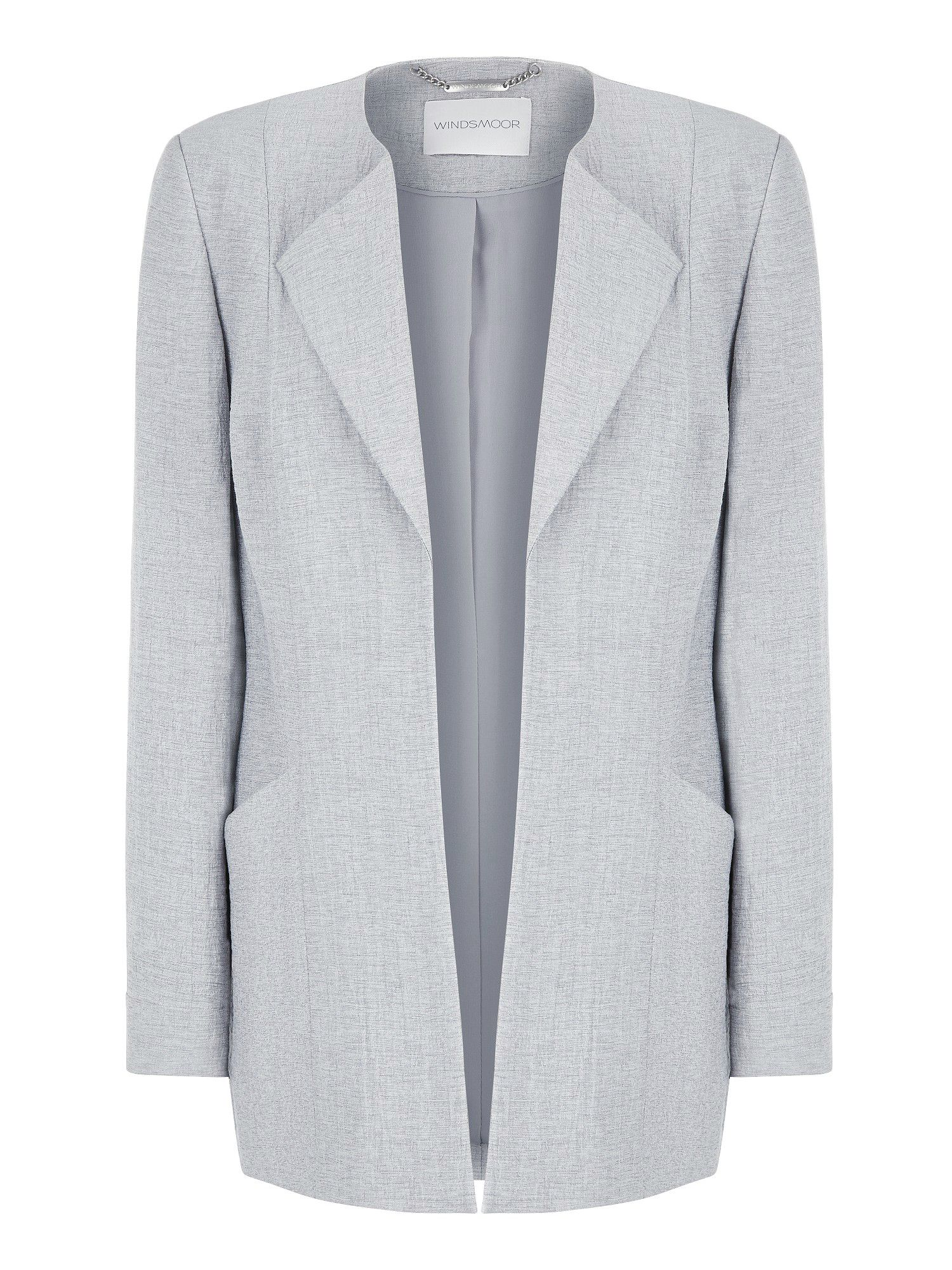 Pale grey longline jacket