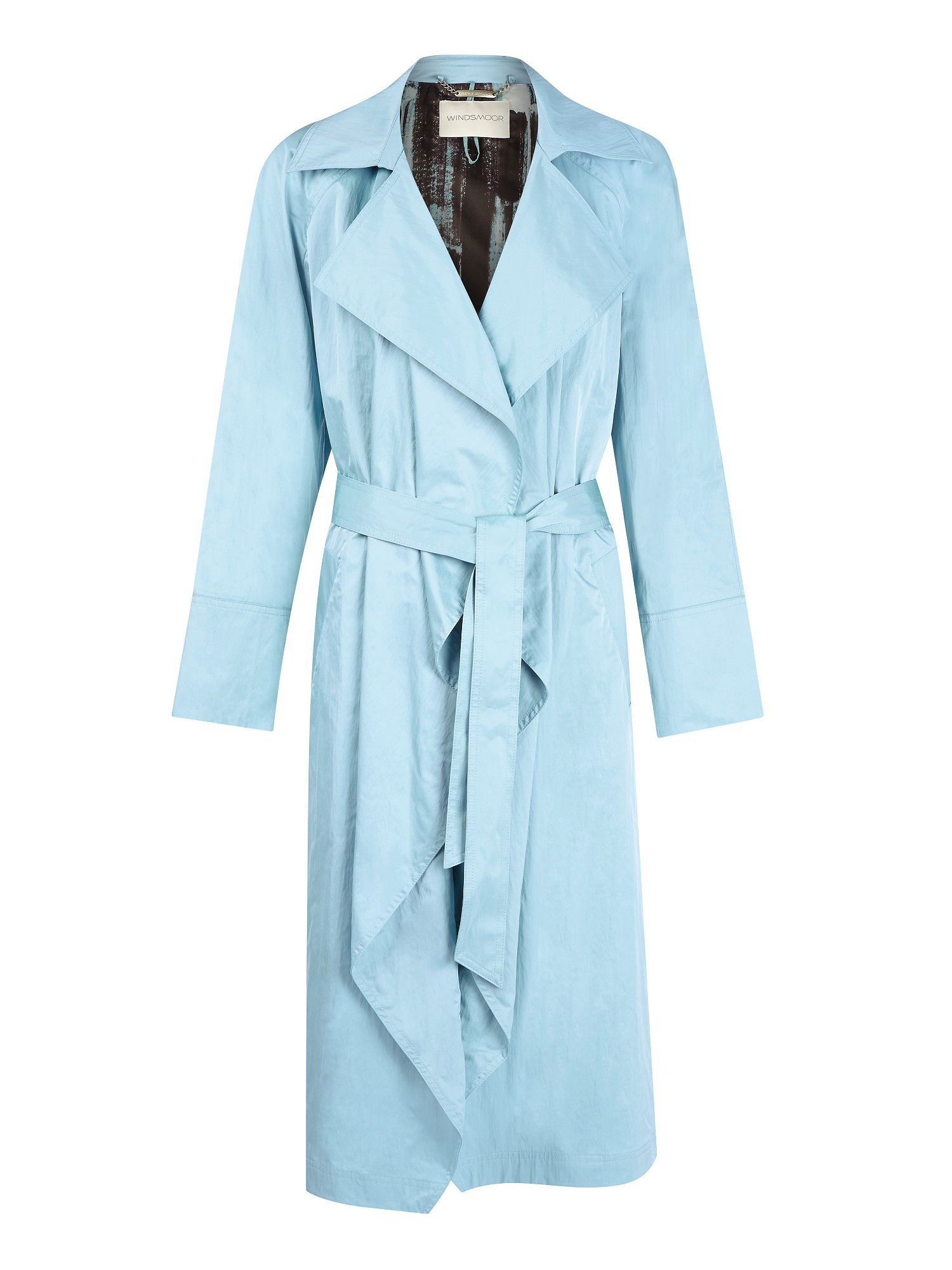 Ice blue waterfall raincoat