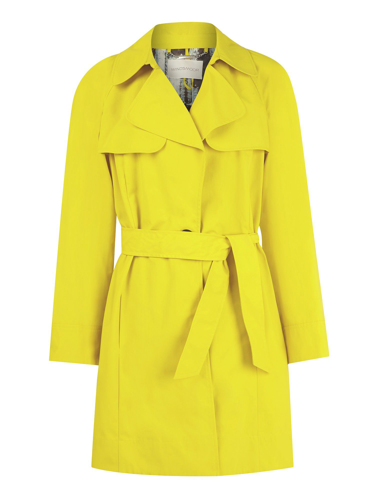 Citron trench coat
