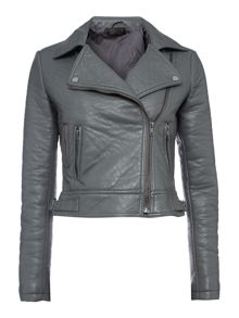 Bubble textured pu biker jacket