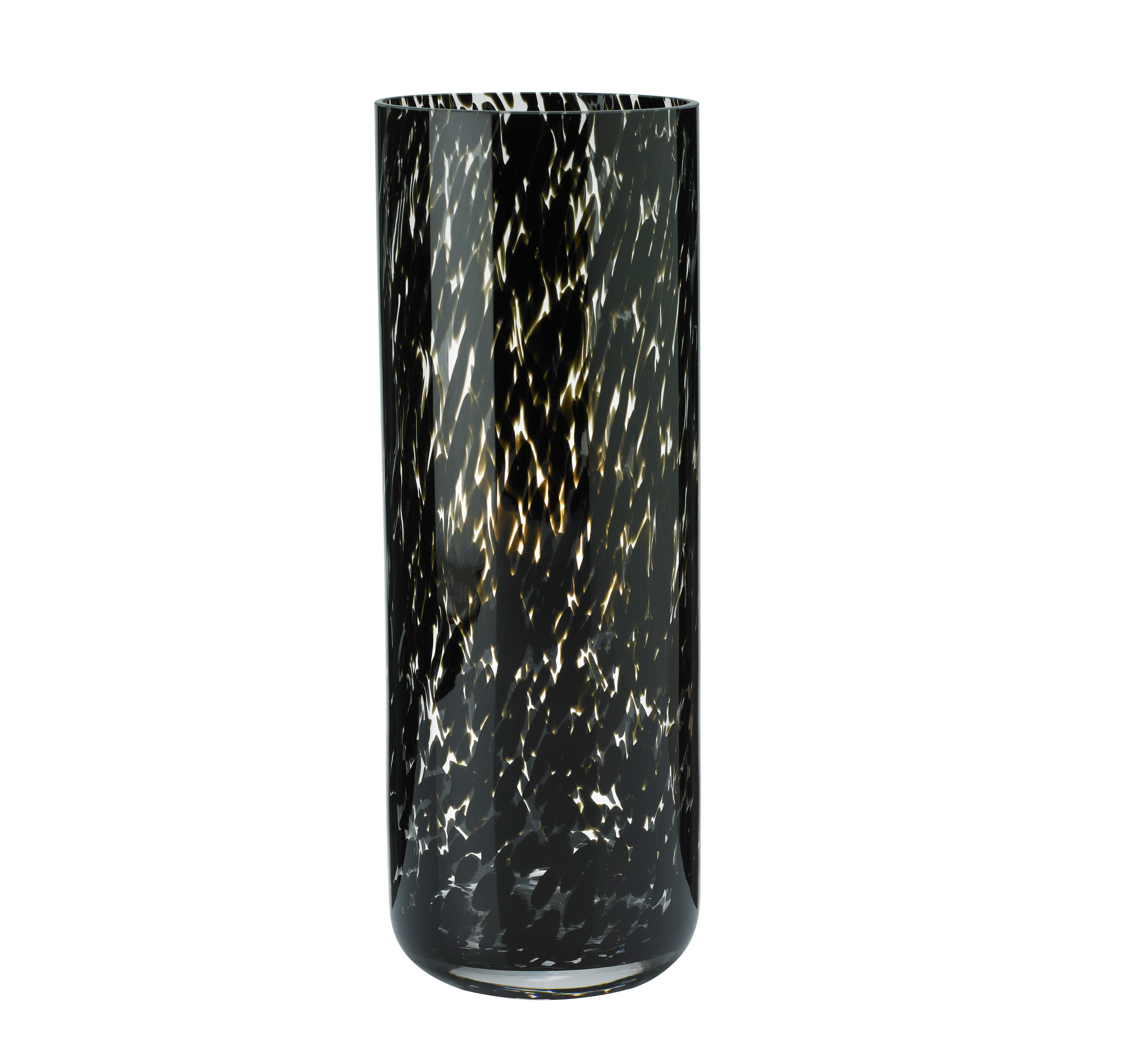 leopard cyclinder vase, small