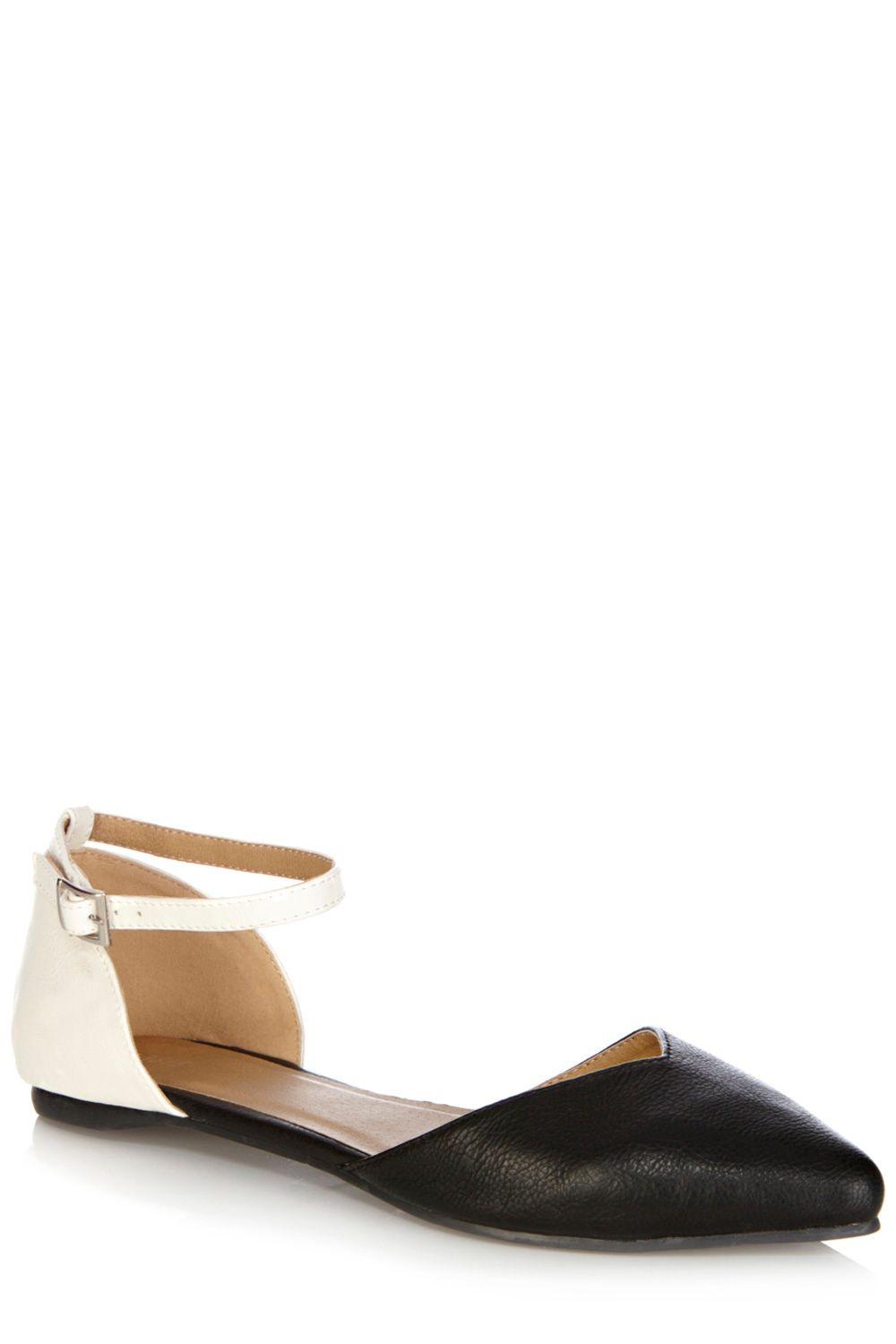 2 part pointed flat shoes