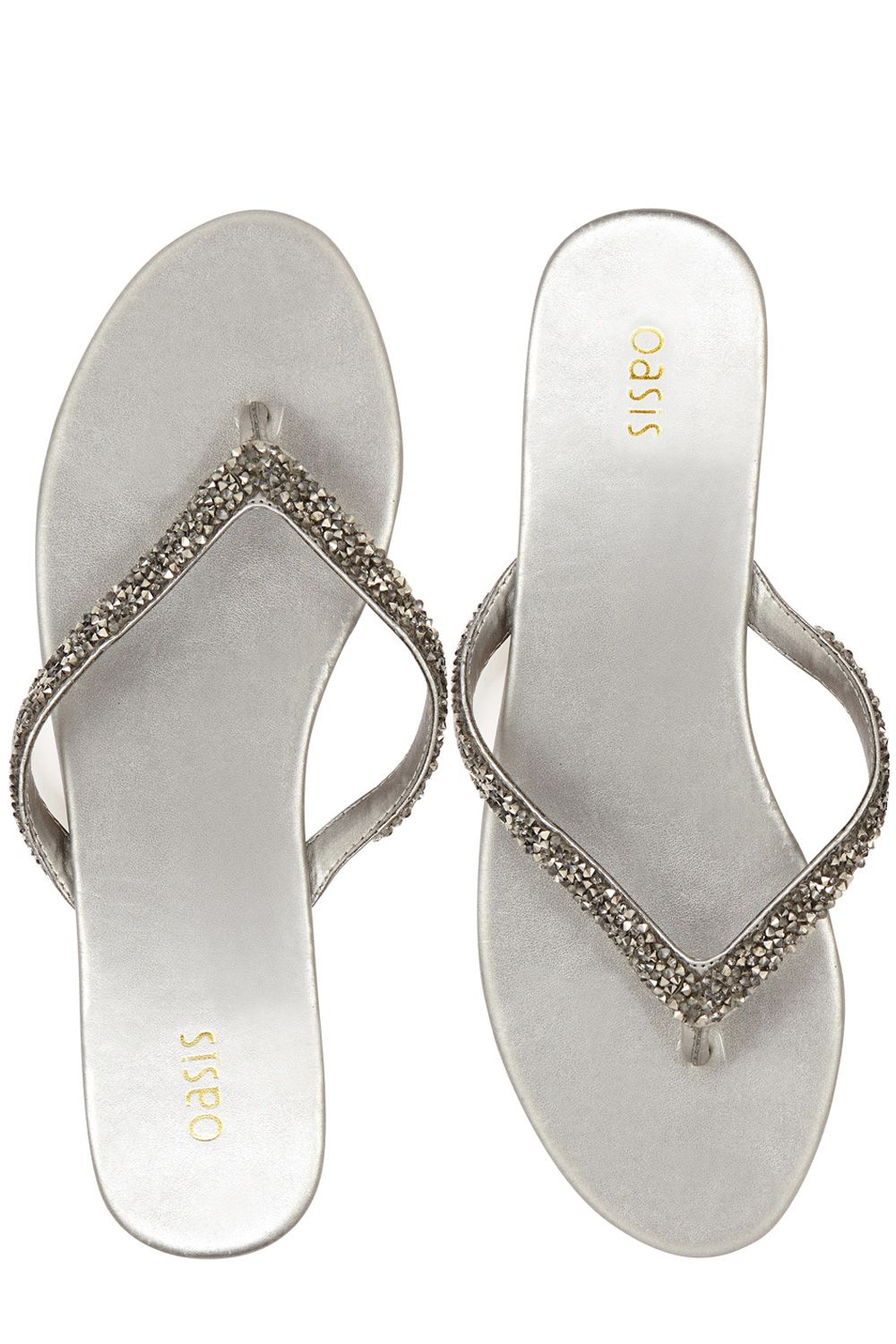 Beaded toe post sandals