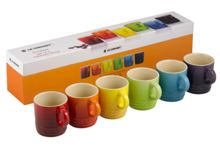 Le Creuset Rainbow espresso mugs set of 6