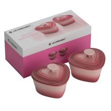 Heart shape ramekins set of 2, rose