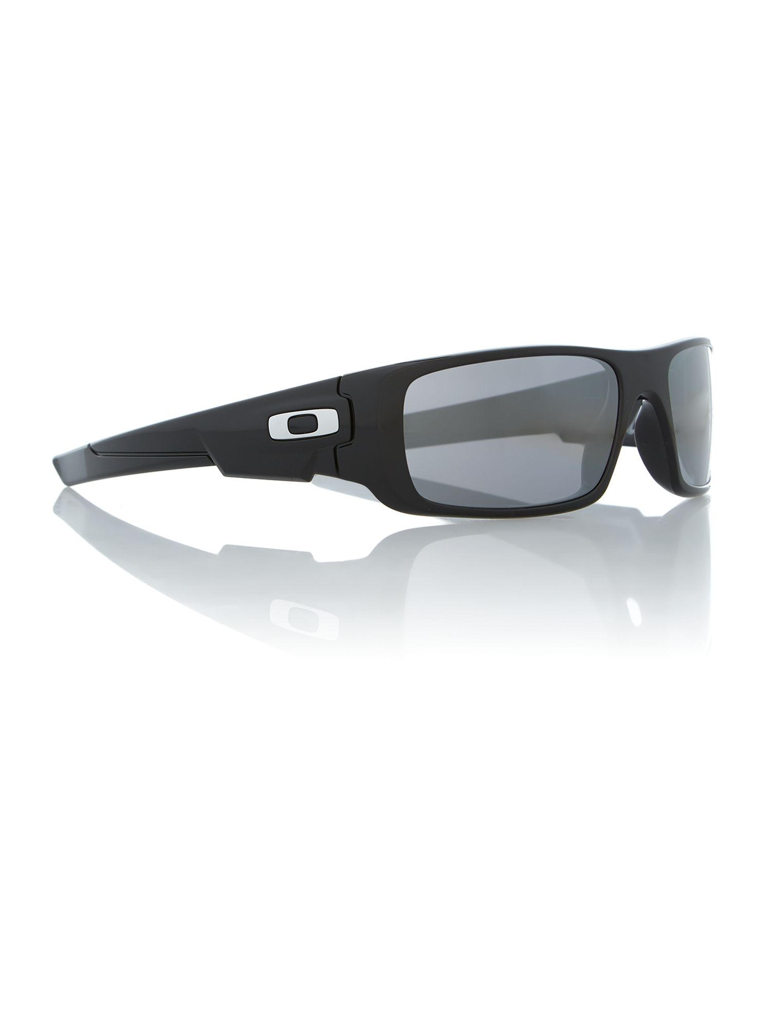 Polished black rectangle sunglasses