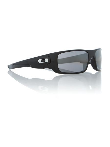 Oakley Polished black rectangle sunglasses