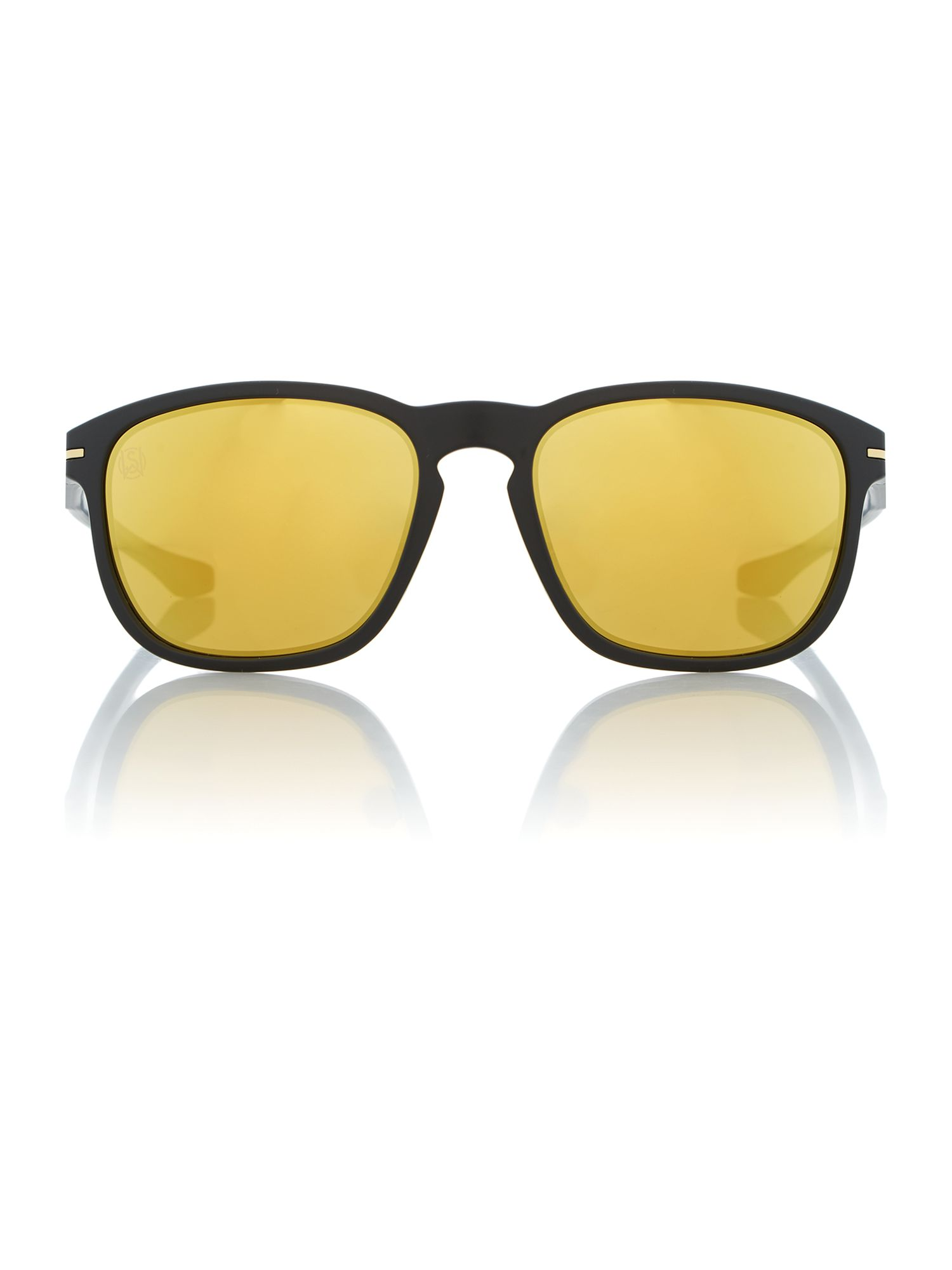 Black ink oval sunglasses