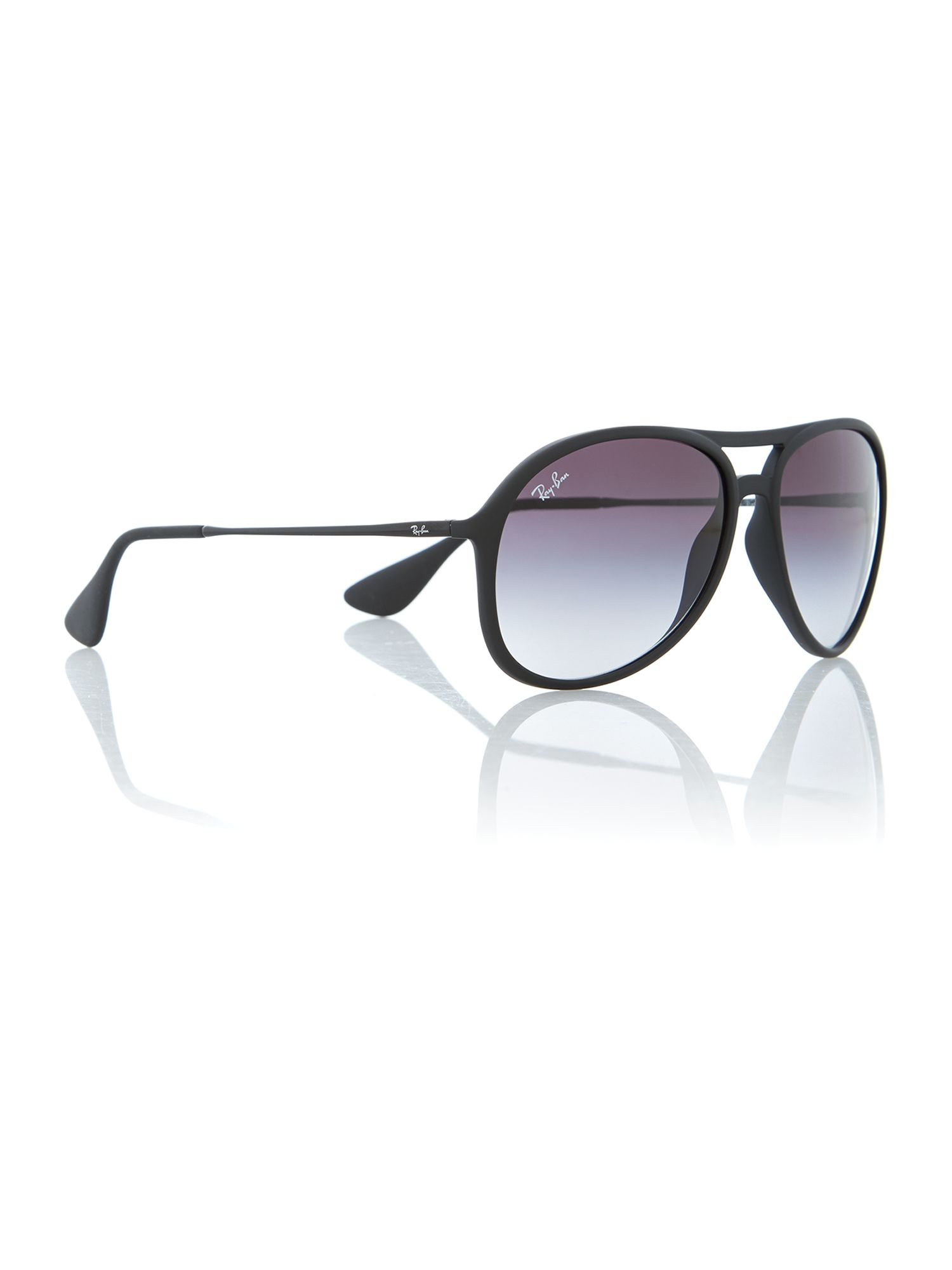 Rubber black pilot sunglasses
