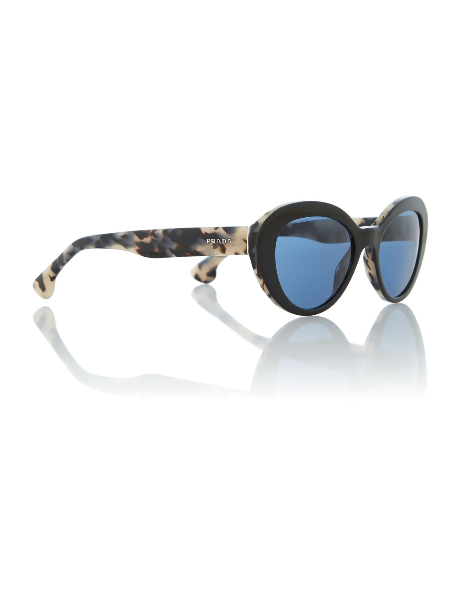 Black/white havana oval sunglasses