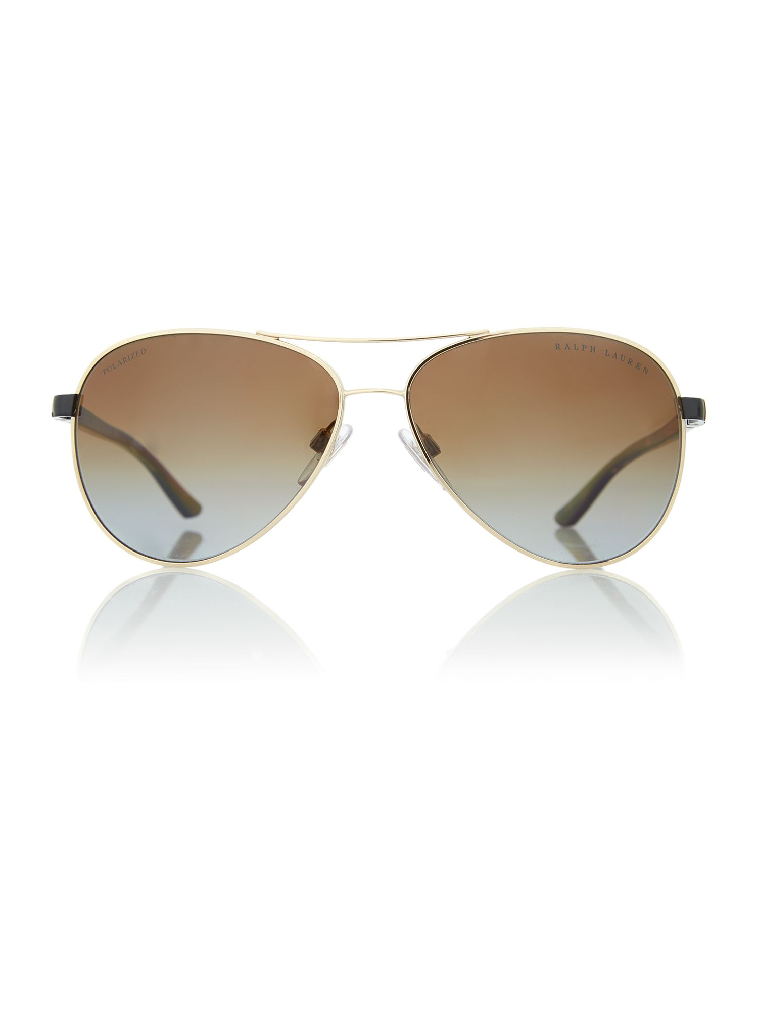 Shiny gold ladies avaitor sunglasses