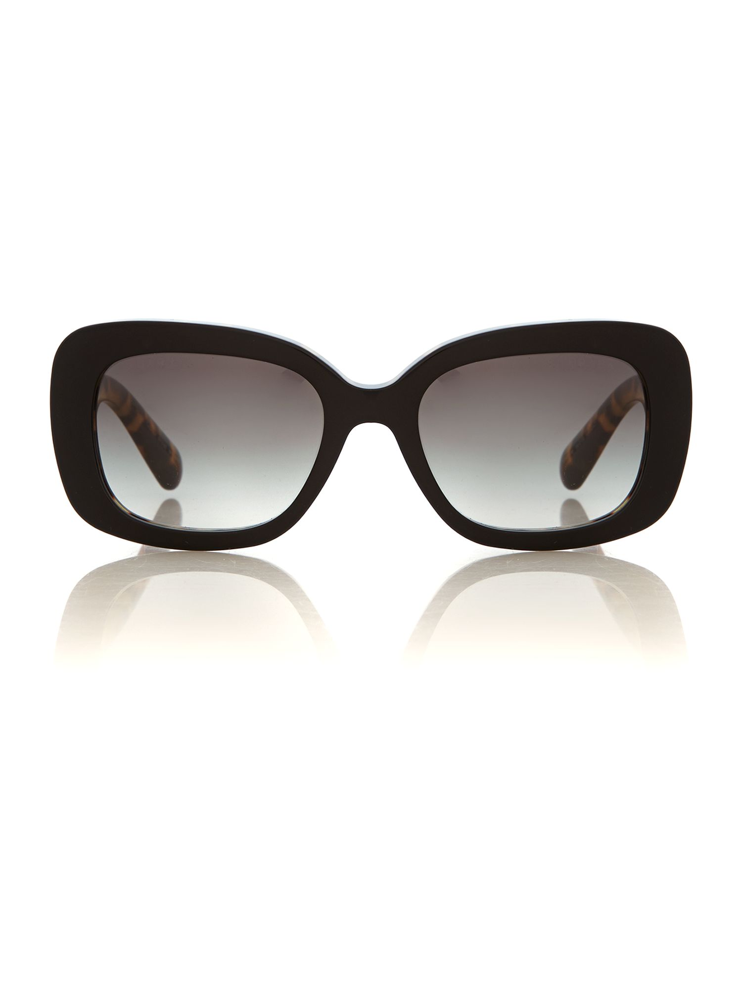 Women grey gradient rectangle sunglasses