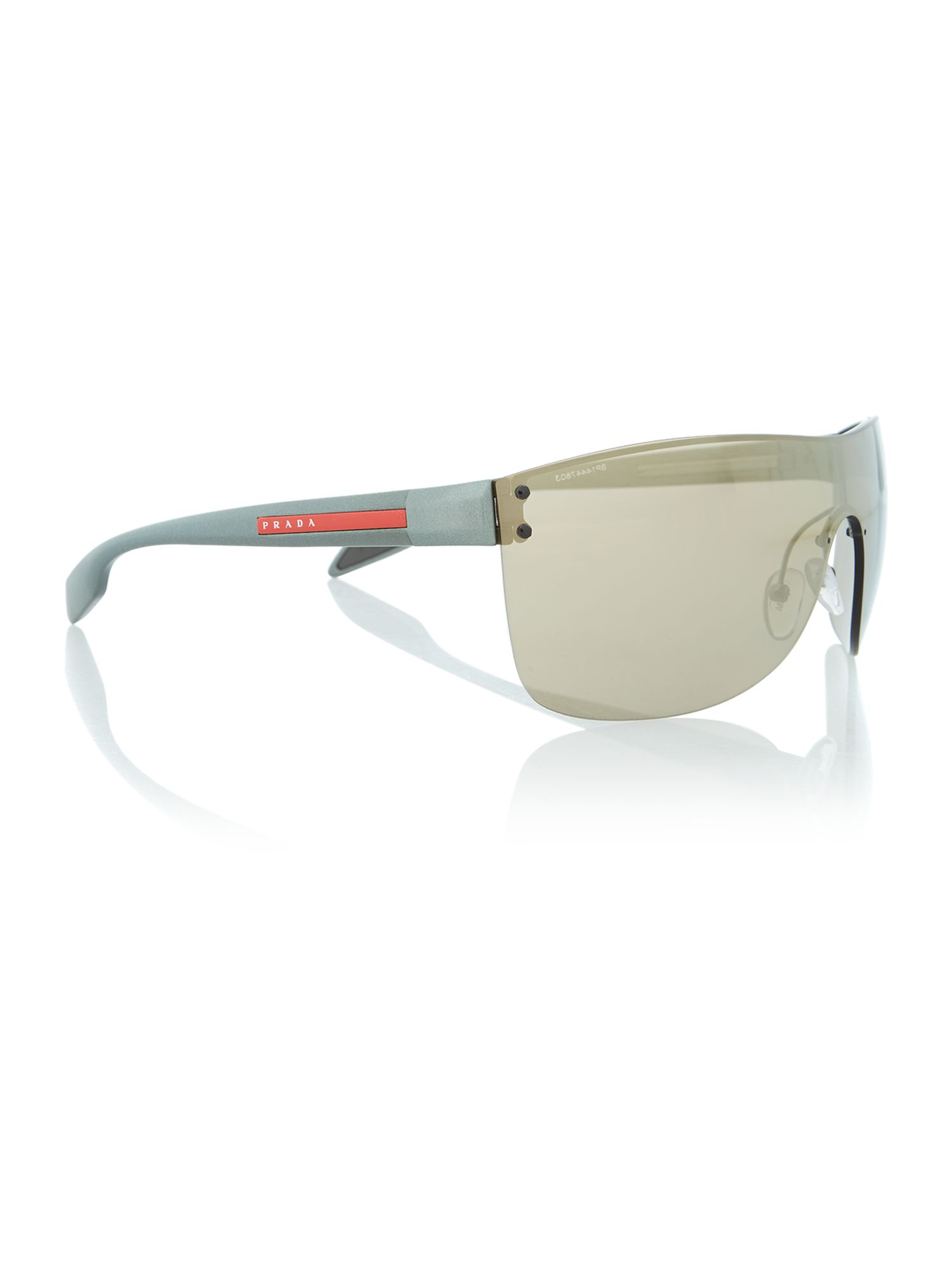 Gunmetal square sunglasses