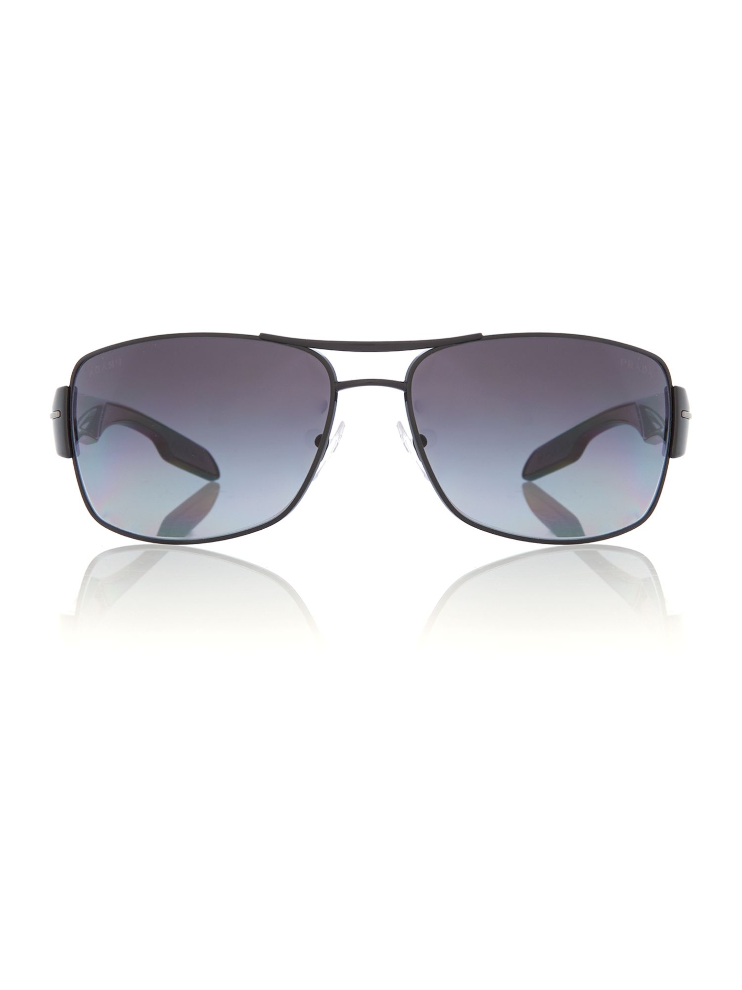 Men polar grey gradient rectangle sunglasses