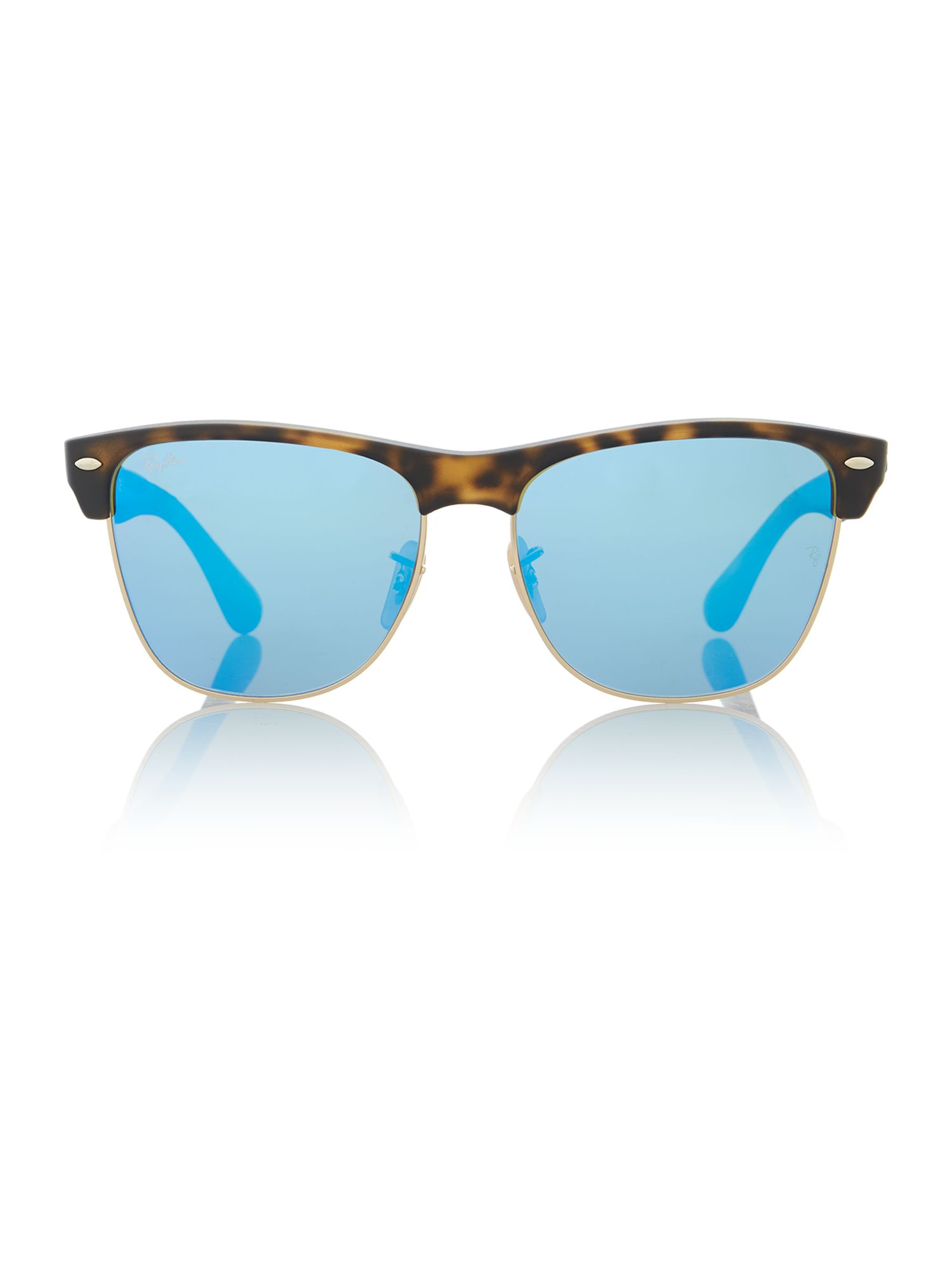Matte havana square sunglasses