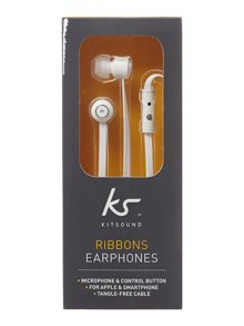 Ribbons earphone with microphone