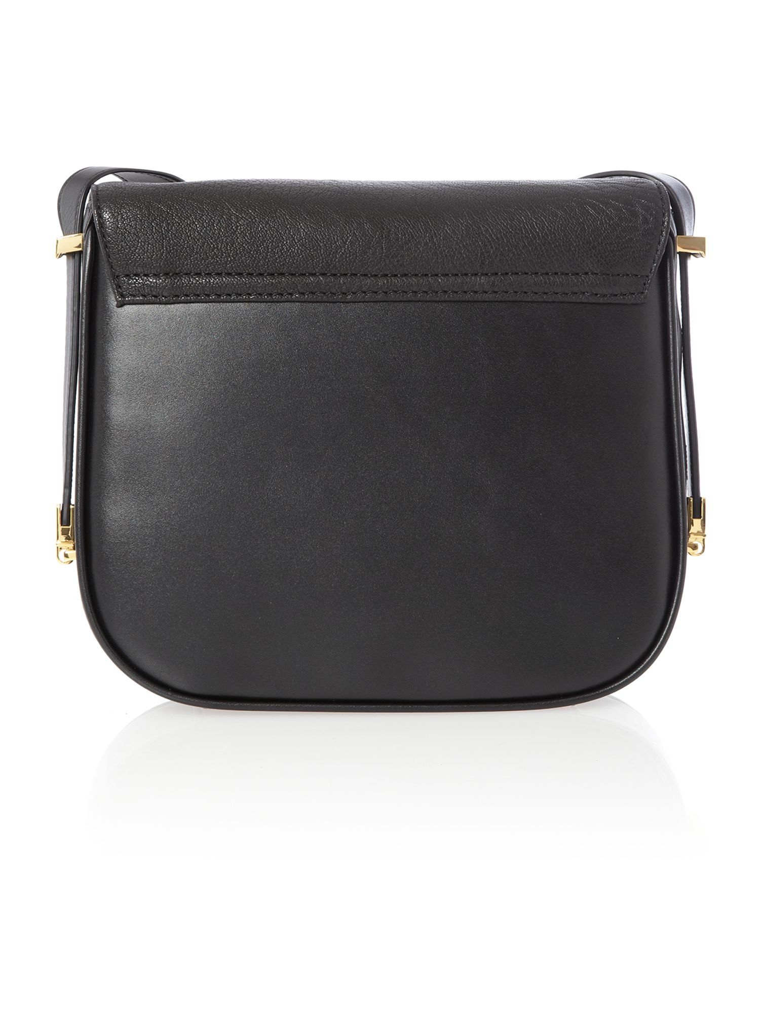 Black bow leather cross body bag