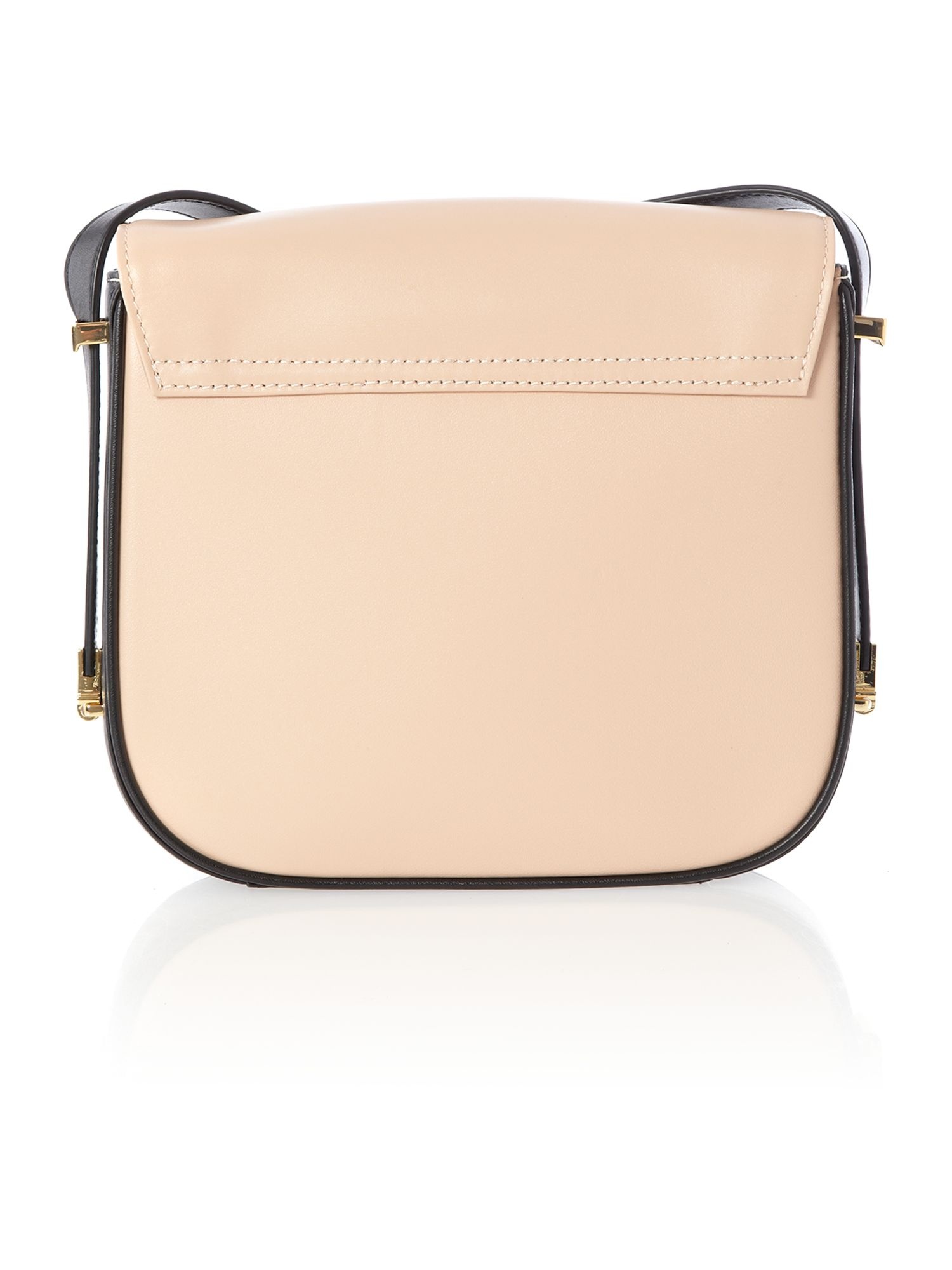 Neutral bow leather small cross body bag