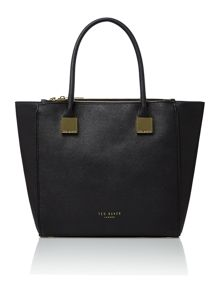 Black medium saffiano tote bag