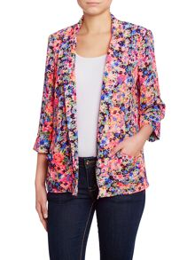 Floral print casual blazer