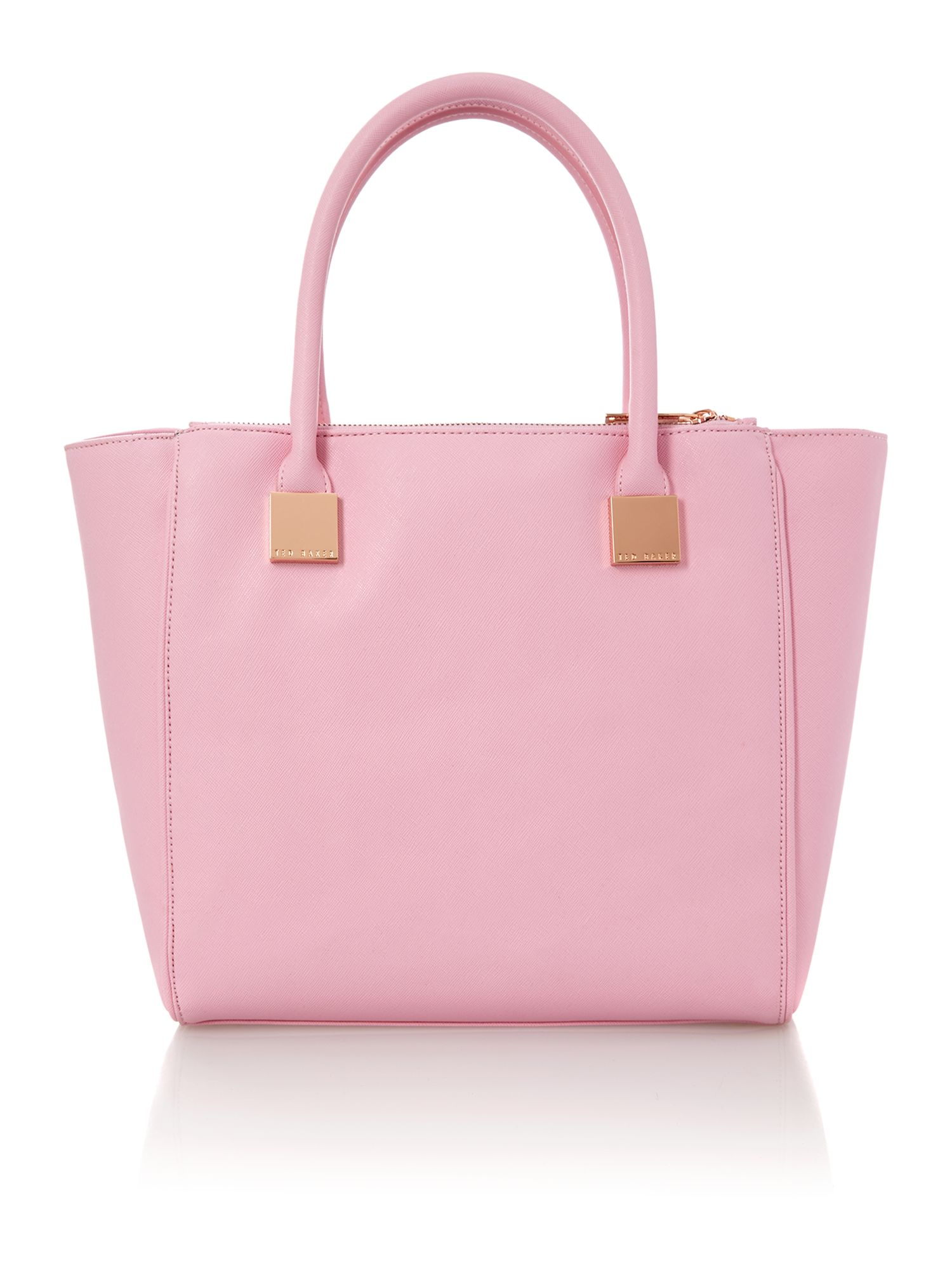 Pink medium saffiano tote bag