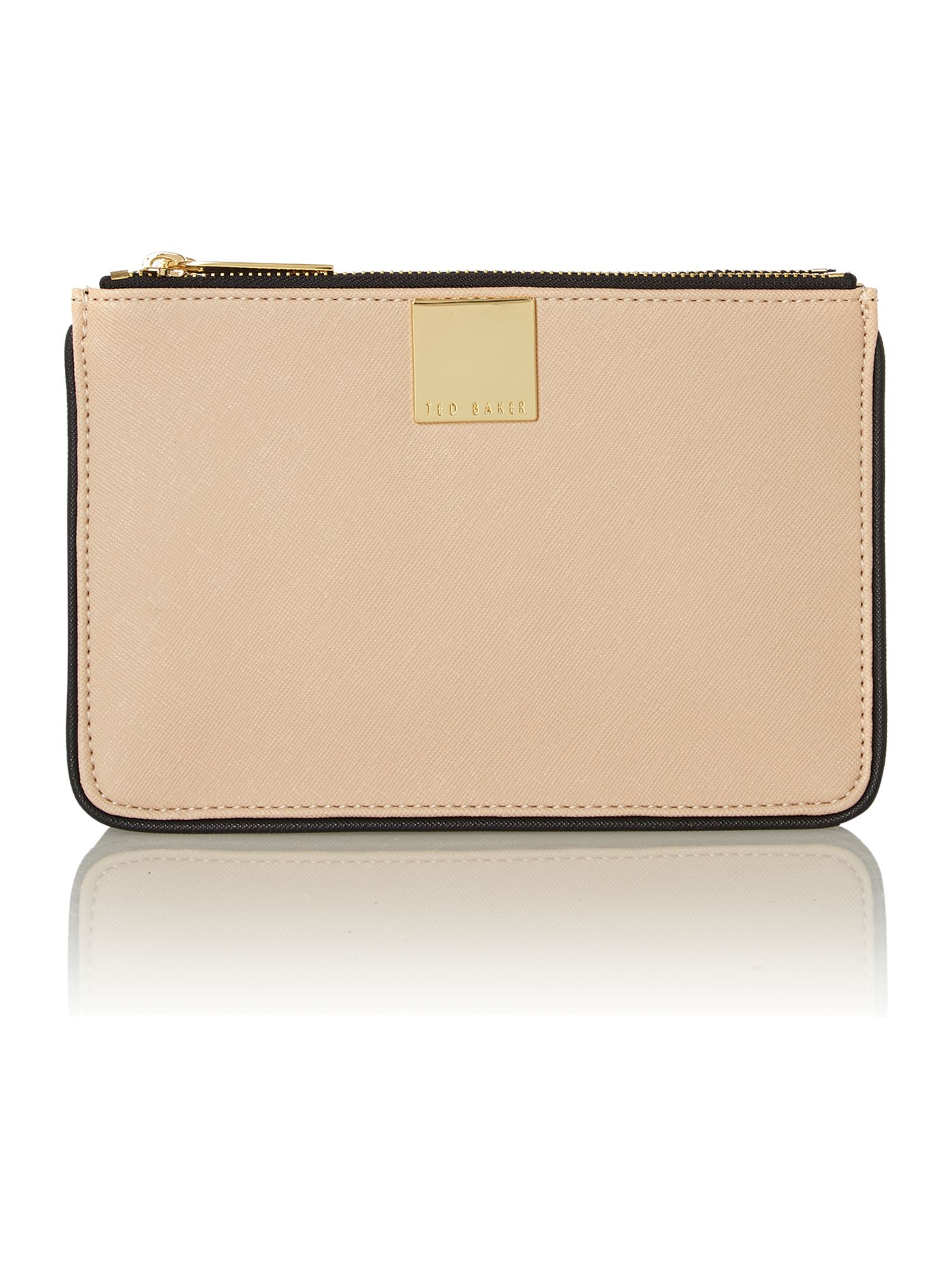 Neutral small saffiano cross body bag