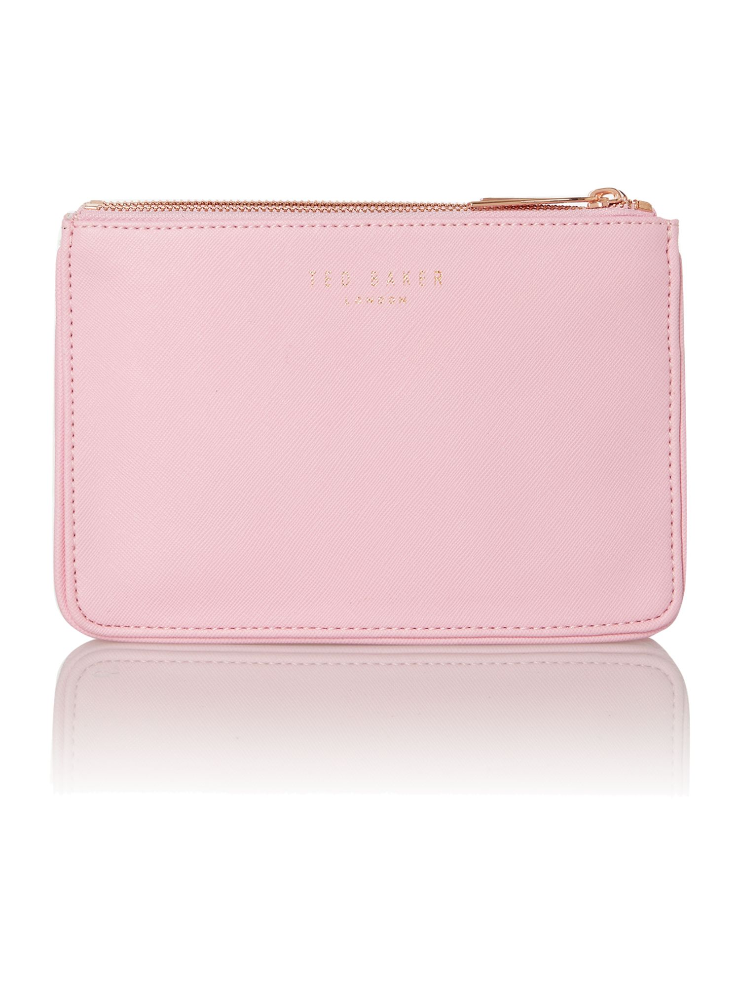 Pink small saffiano cross body bag