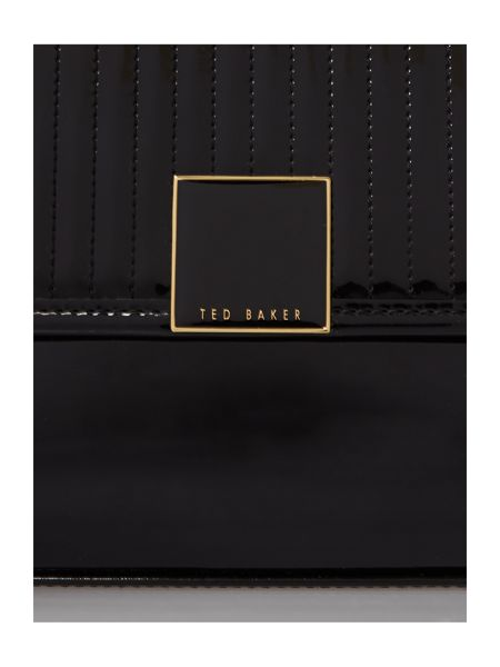 Ted Baker Black small quilted cross body bag