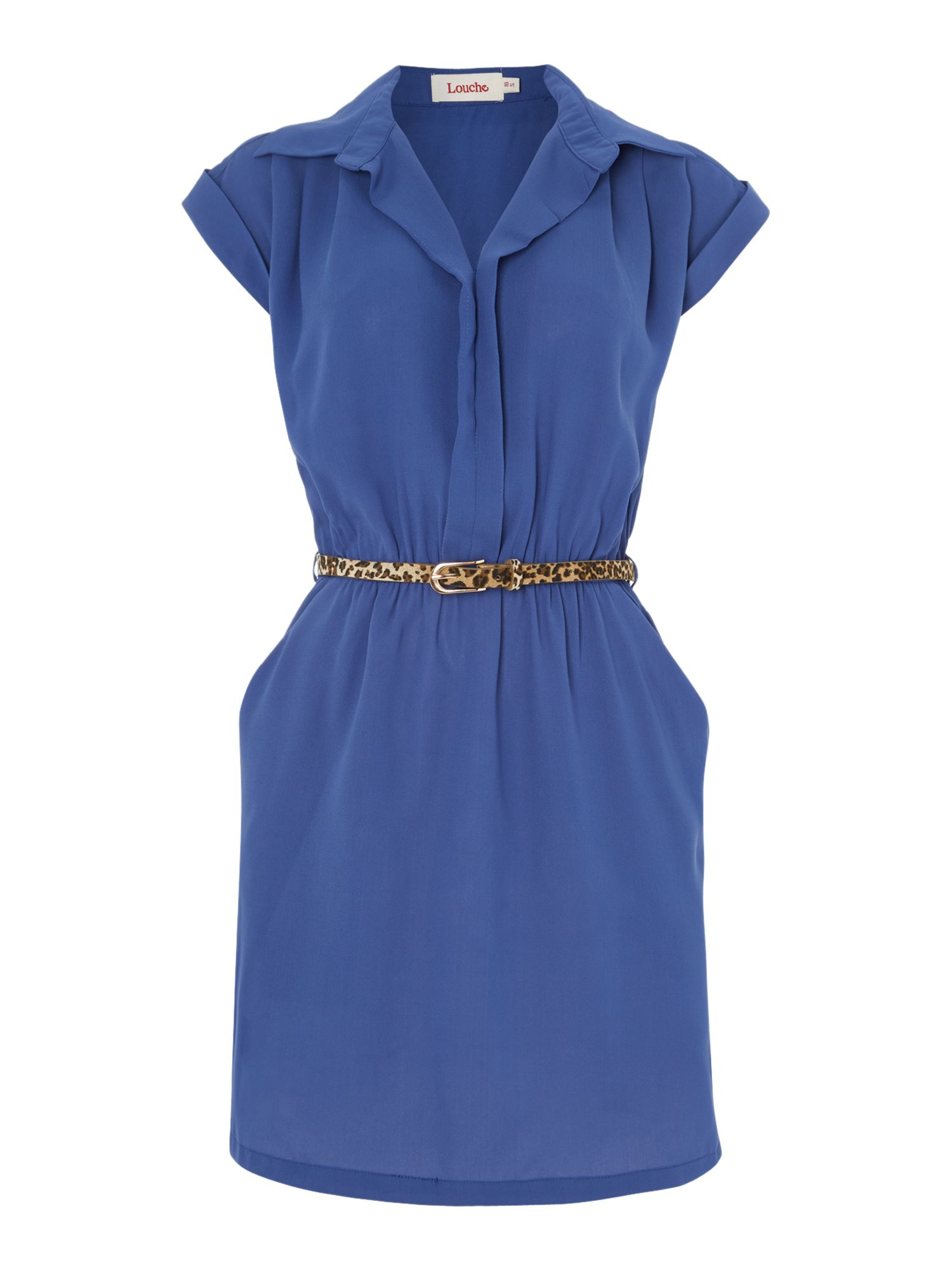 Button Front Shirt dress with belt