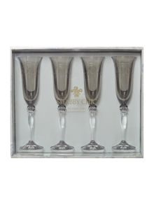 Victoria flute glasses, set of 4
