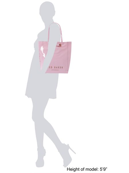 Ted Baker Pale pink large bowcon bag