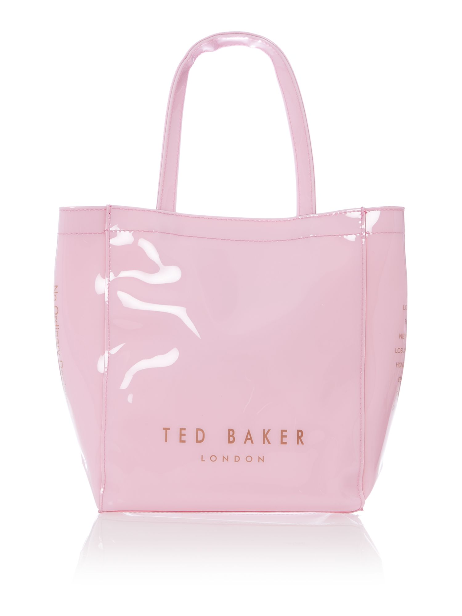 Pale pink small bowcon bag