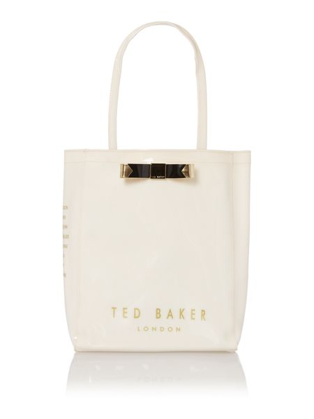 Ted Baker Natural large bowcon bag