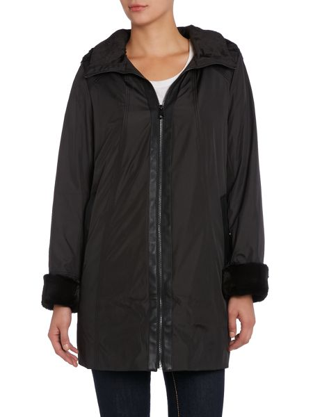 Marc NY Faux fur lined hood coat