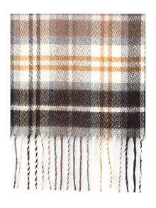 Blurred check skinny Cashmink® scarf