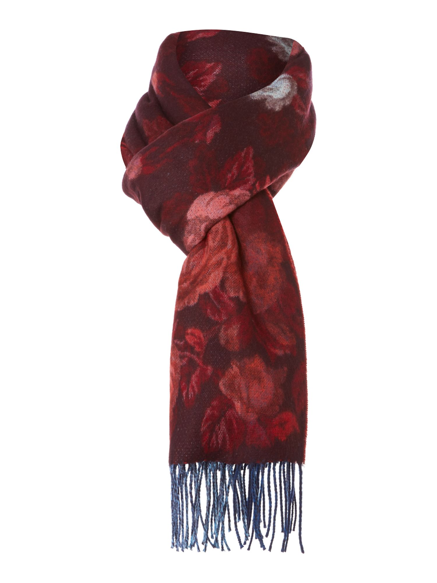 Blurred climbing rose wide Cashmink® scarf