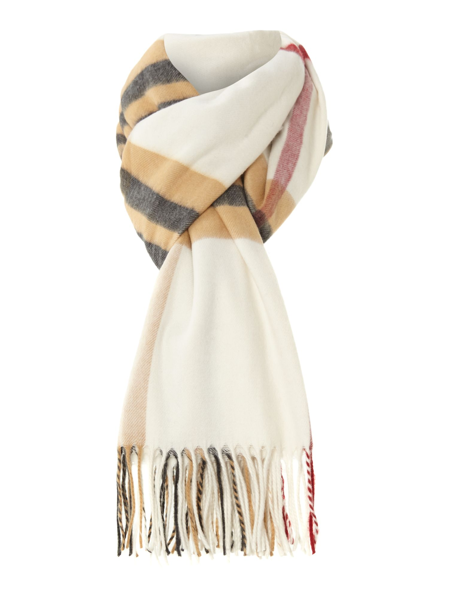 Exploded check wide Cashmink® scarf