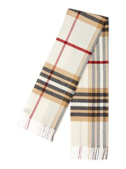 Linea Exploded check wide cashmink scarf