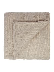 Cable knit sherpa cushion